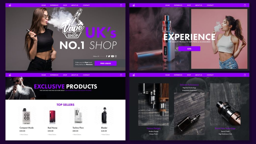Edinburgh vape web design